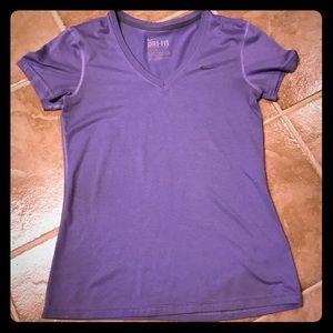 Light purple Nike Dri-Fit workout short sleeve top
